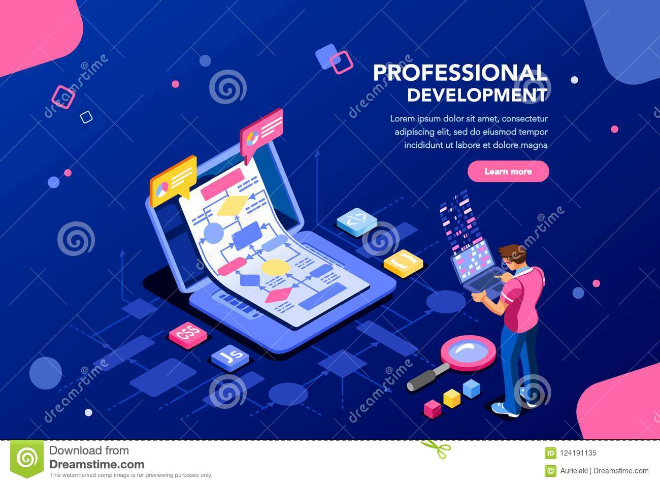 Technical Development Banner For Website Stock Vector Illustration Of Office Company 124191135