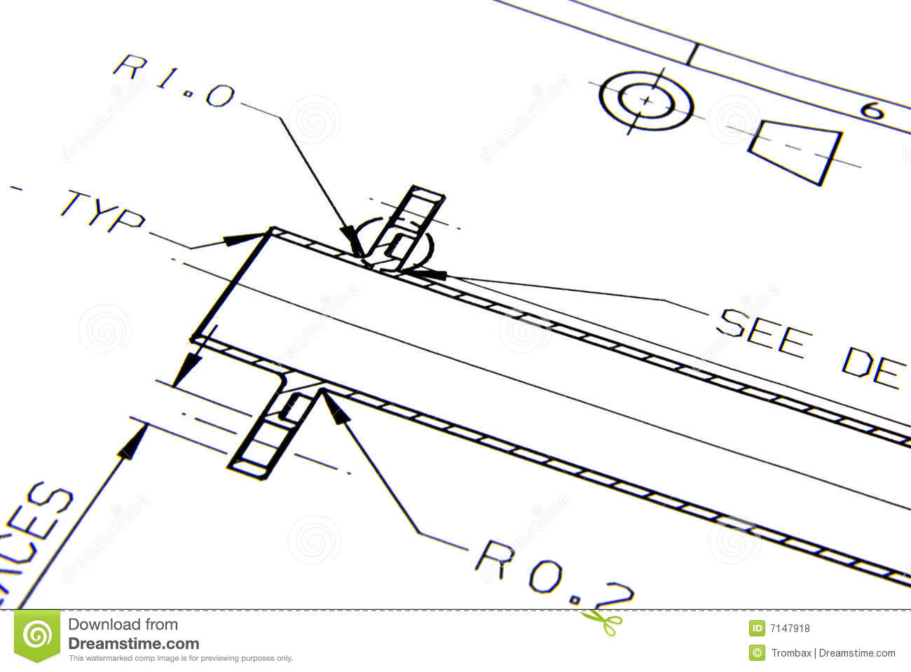 Technical Drawing Royalty Free Stock Photos Image 7147918