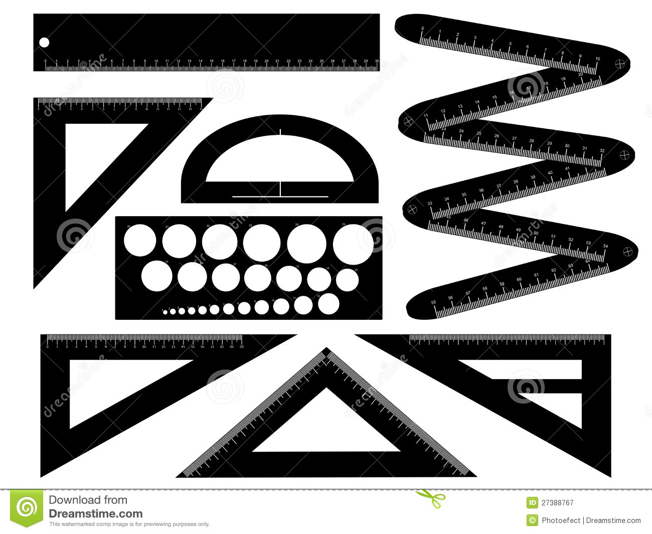 Tools Used In Drafting Equipment Or Instrument : Technical drawing equipment stock vector image