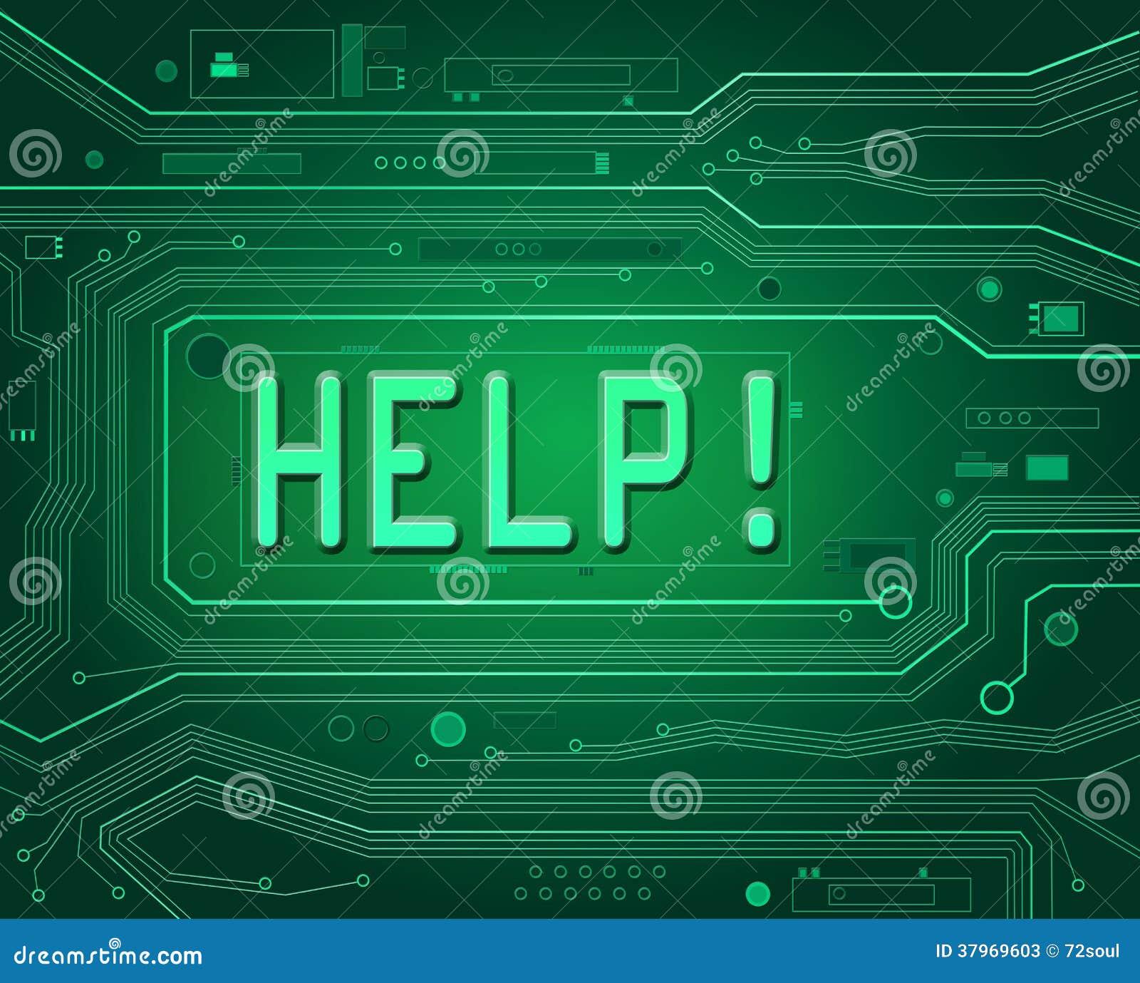 Technical Help Concept  Stock Illustration  Illustration