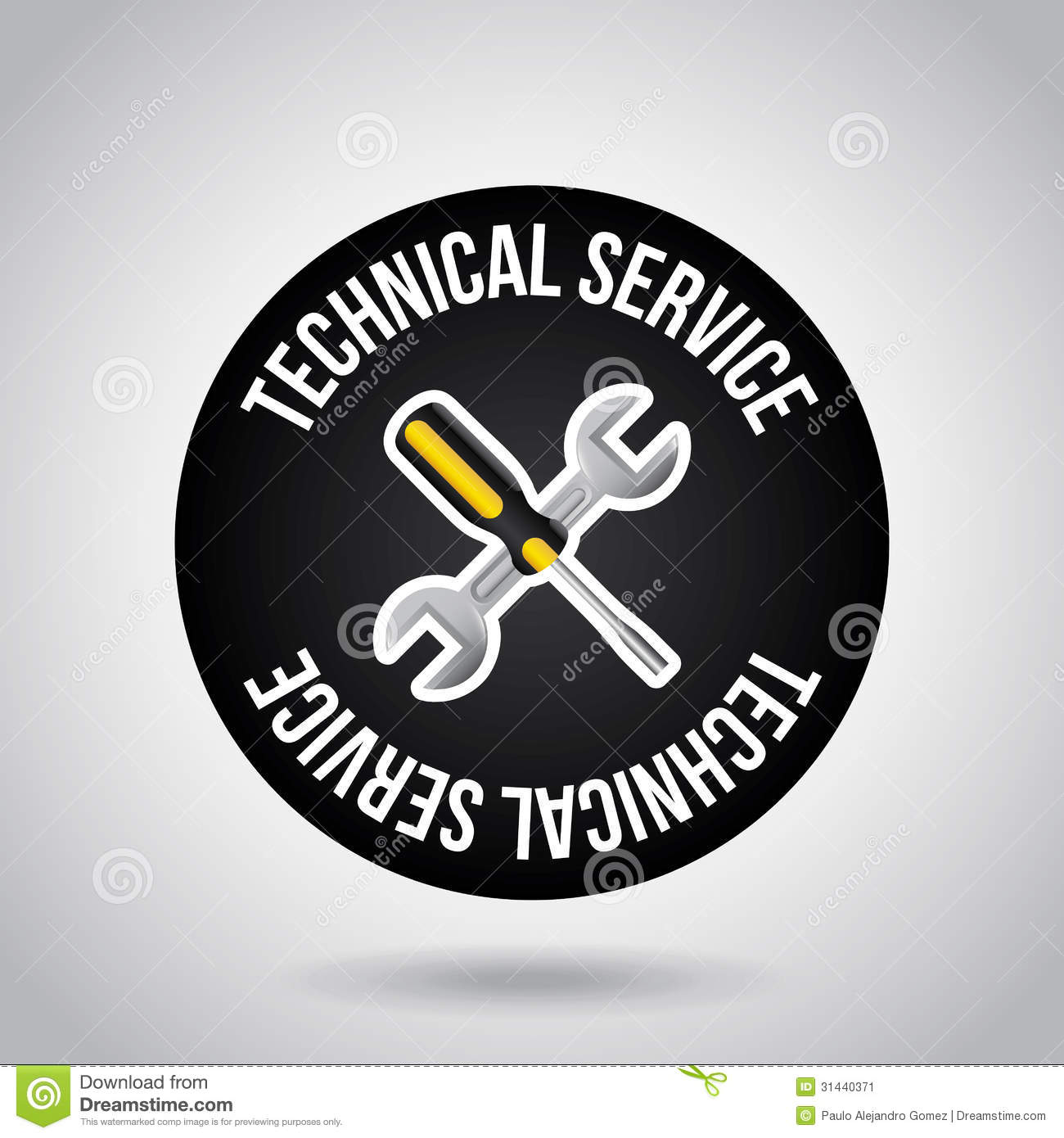 technical service design stock image image 31440371