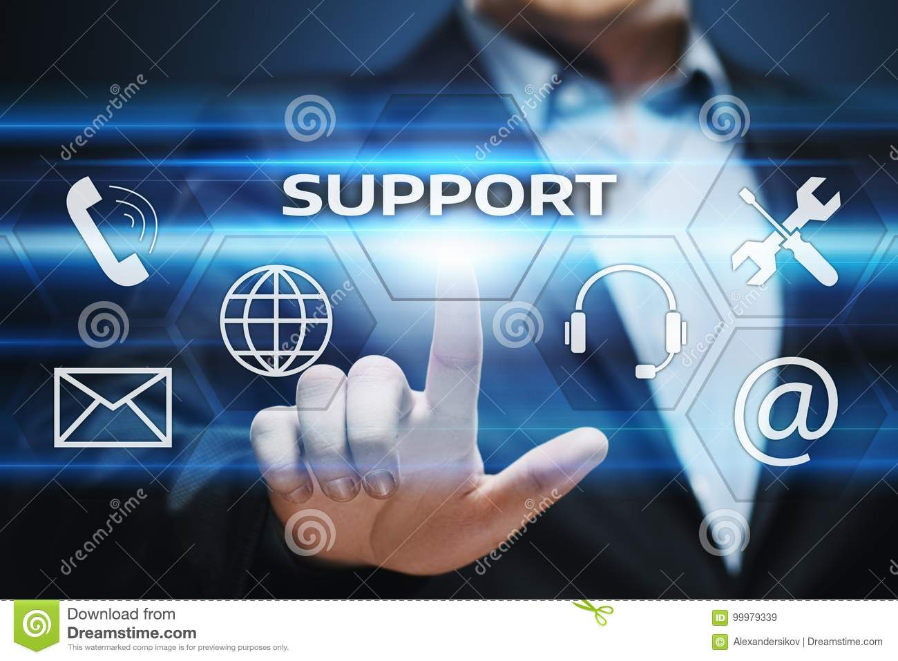 137d2140295 Technical Support Center Customer Service Internet Business Technology  Concept.
