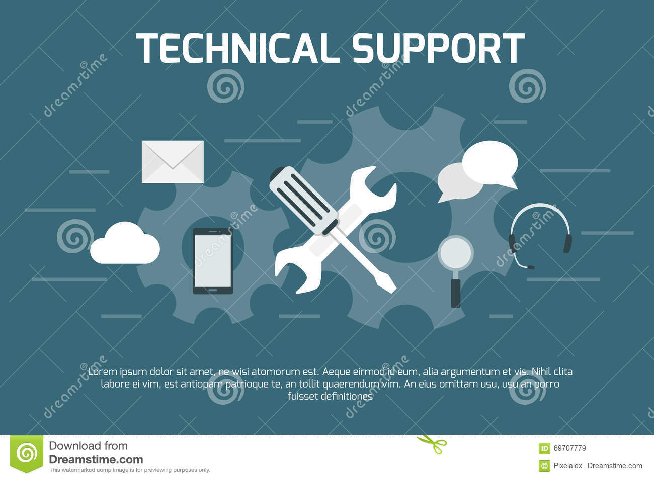 Technical Support Concept Stock Vector