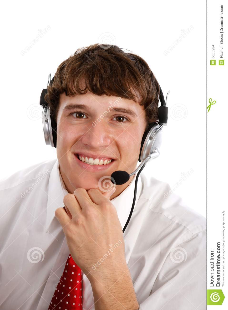 Technical Support Person Stock Photo  Image Of Shirt