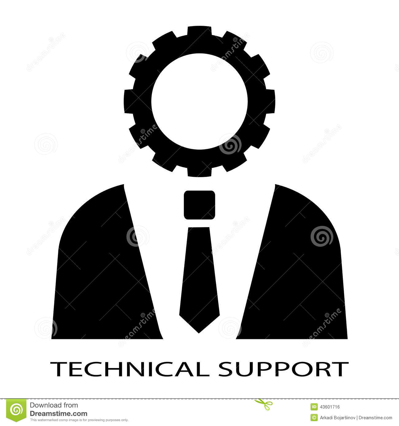 Technical Support Person Stock Vector Illustration Of
