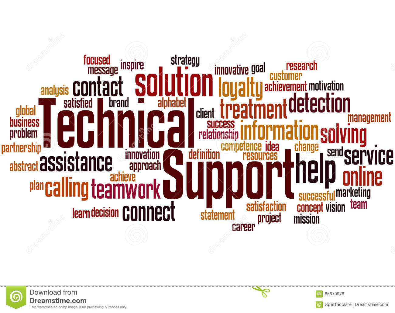Technical Support, Word Cloud Concept 3 Stock Illustration - Image ...