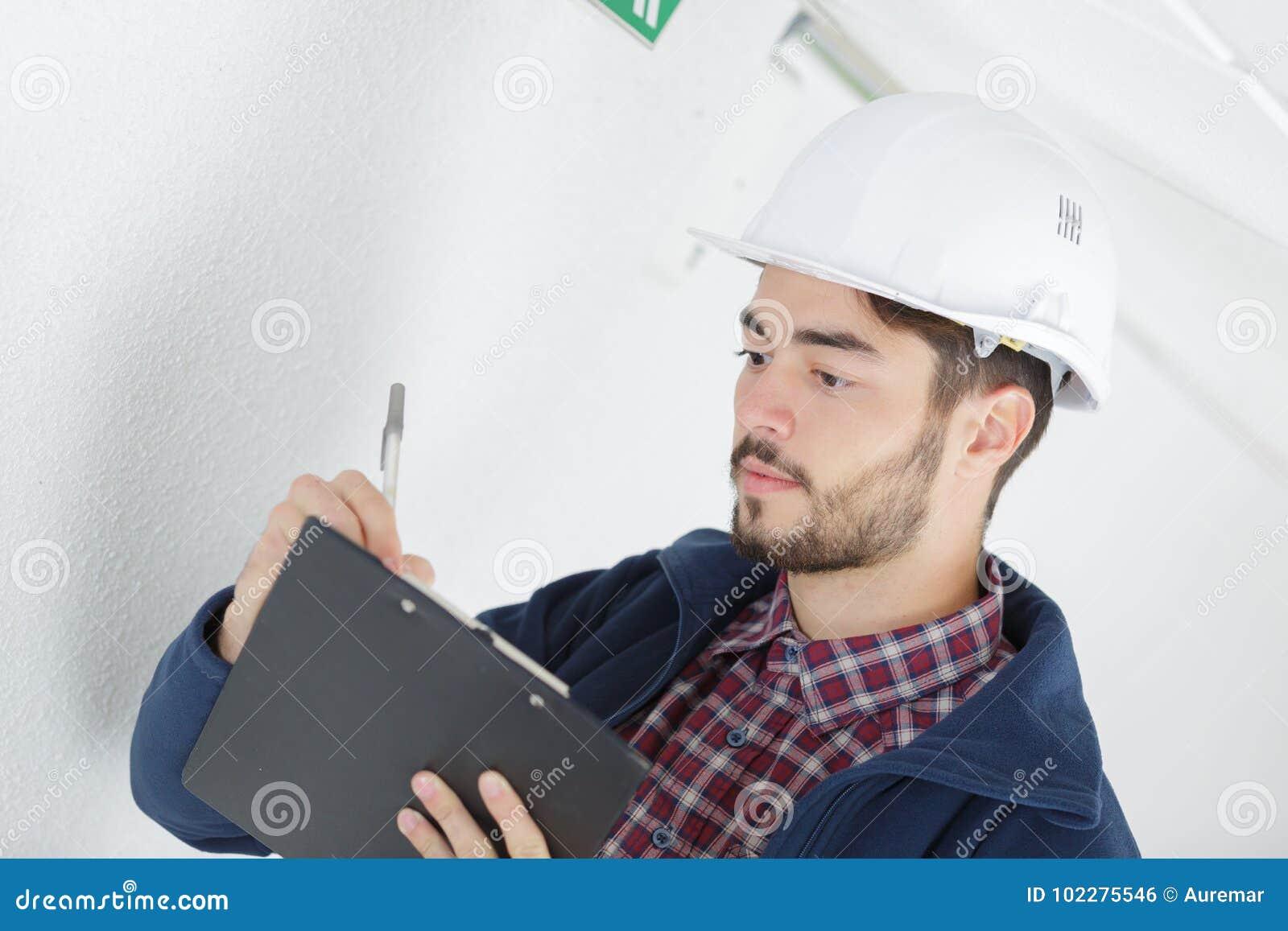 Technician doing bidding estimate