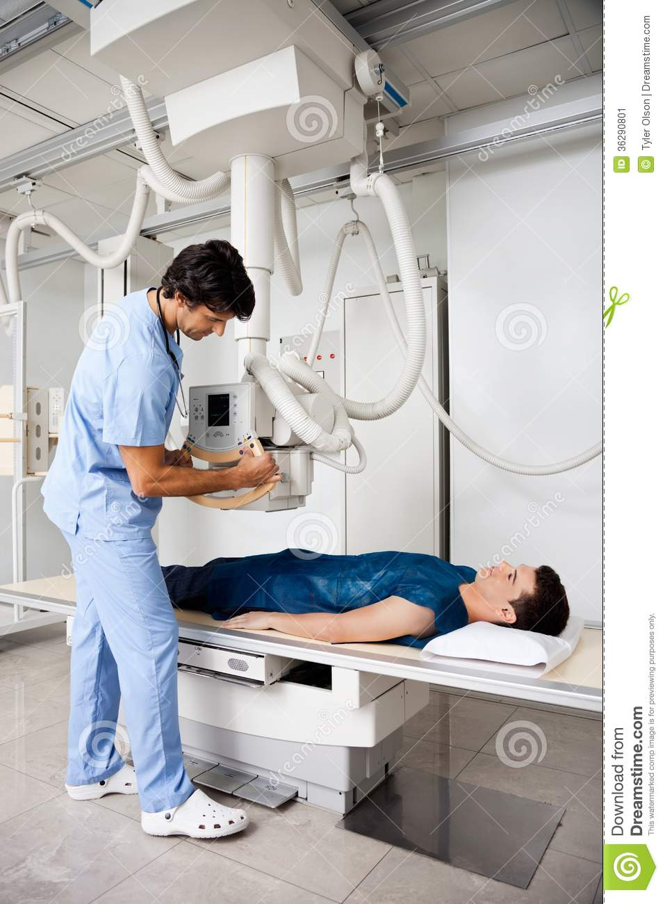 technician taking patient u0026 39 s x-ray stock image