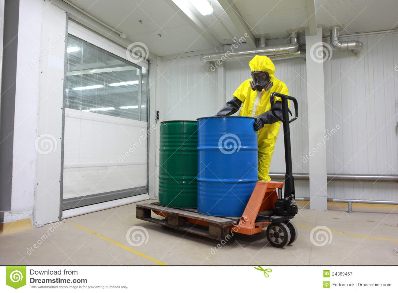 Technician working with toxic substance