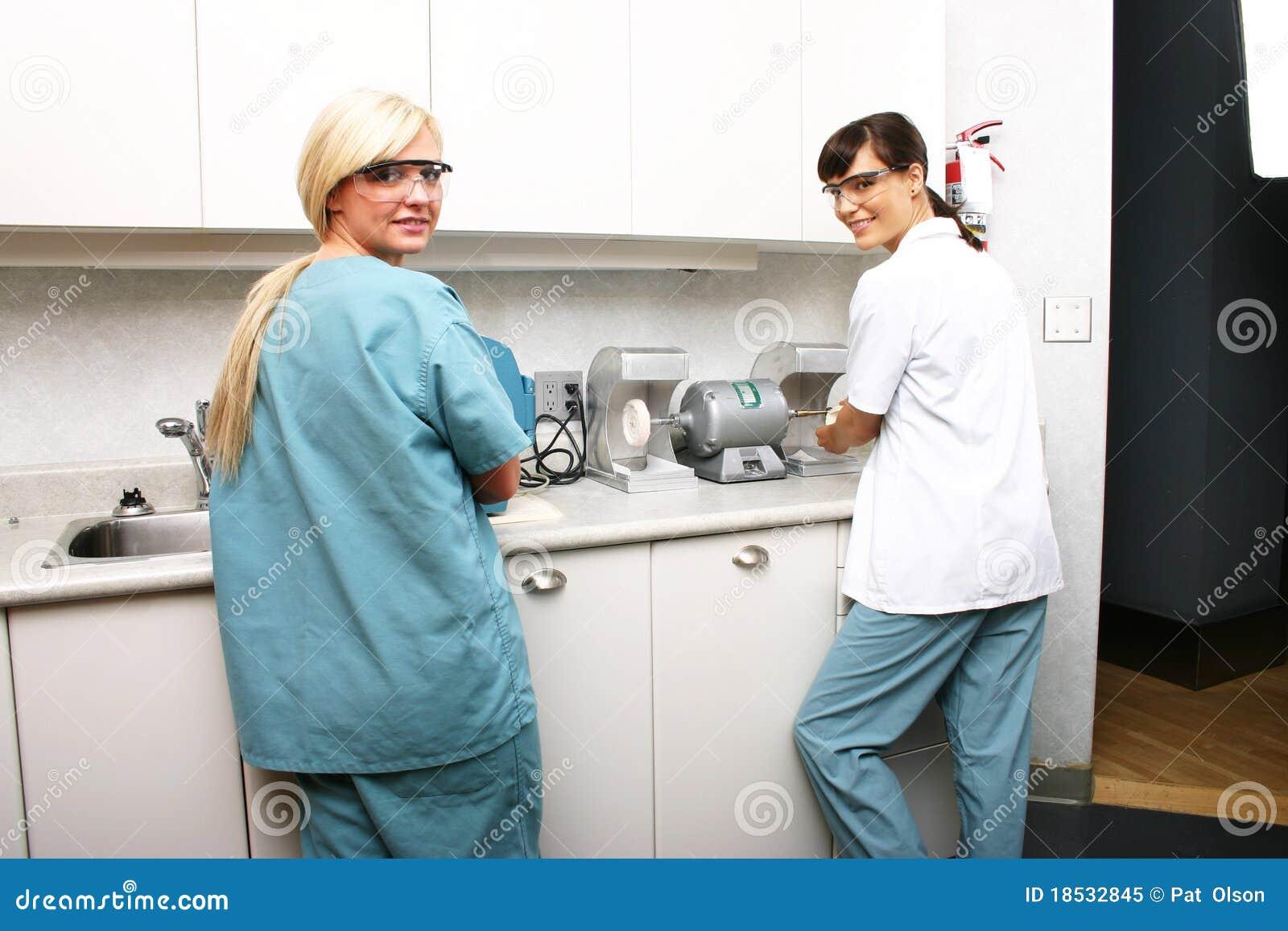 Technicians in dental lab