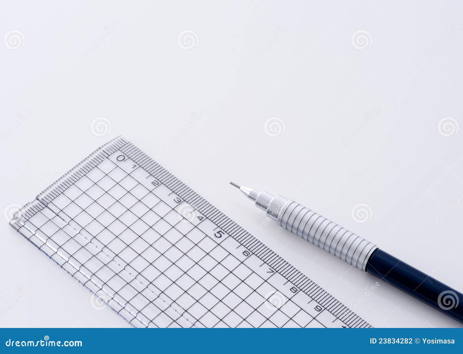 Techniczna ołówkowa władca