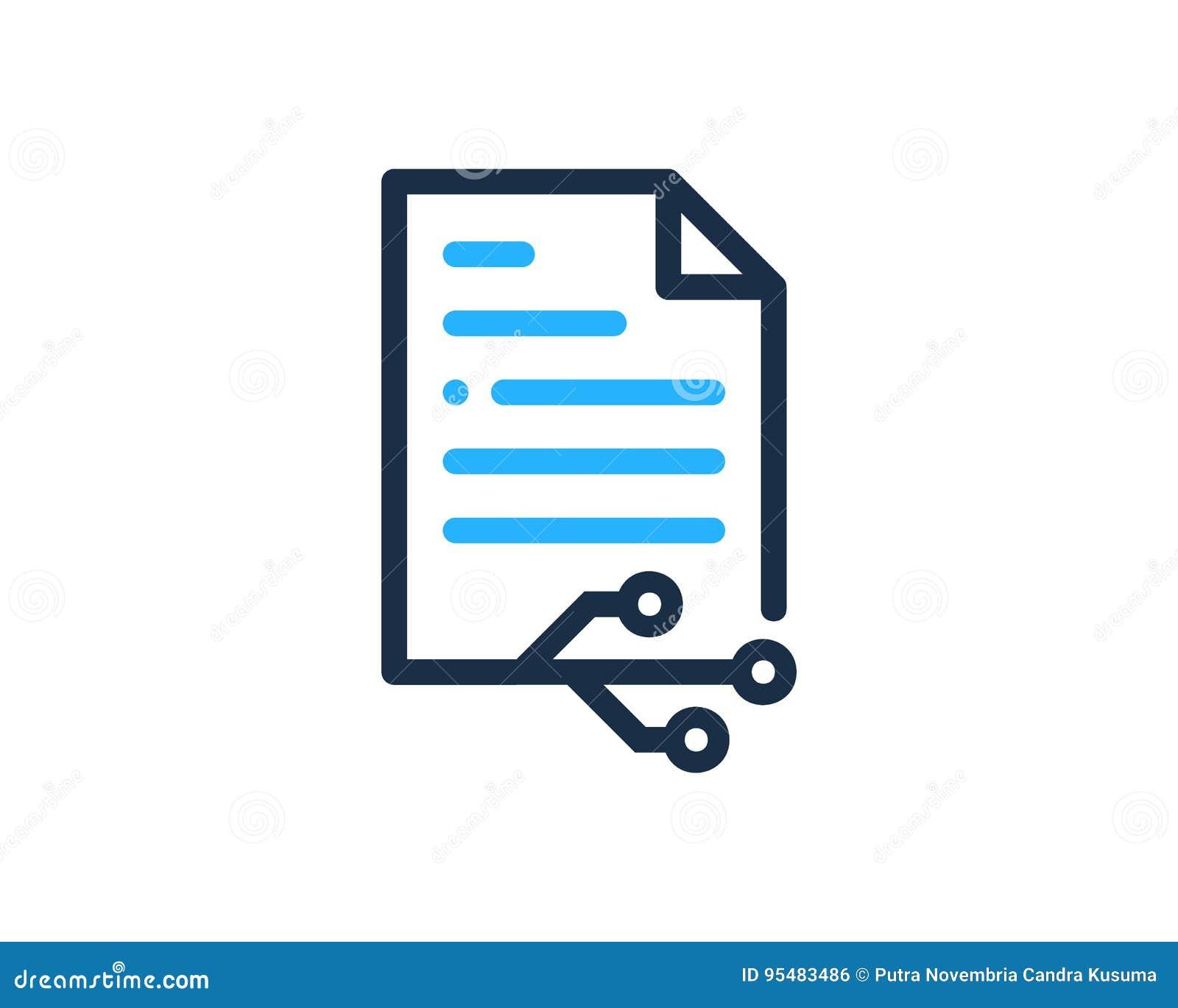 Technika dokumentu ikony loga projekta element