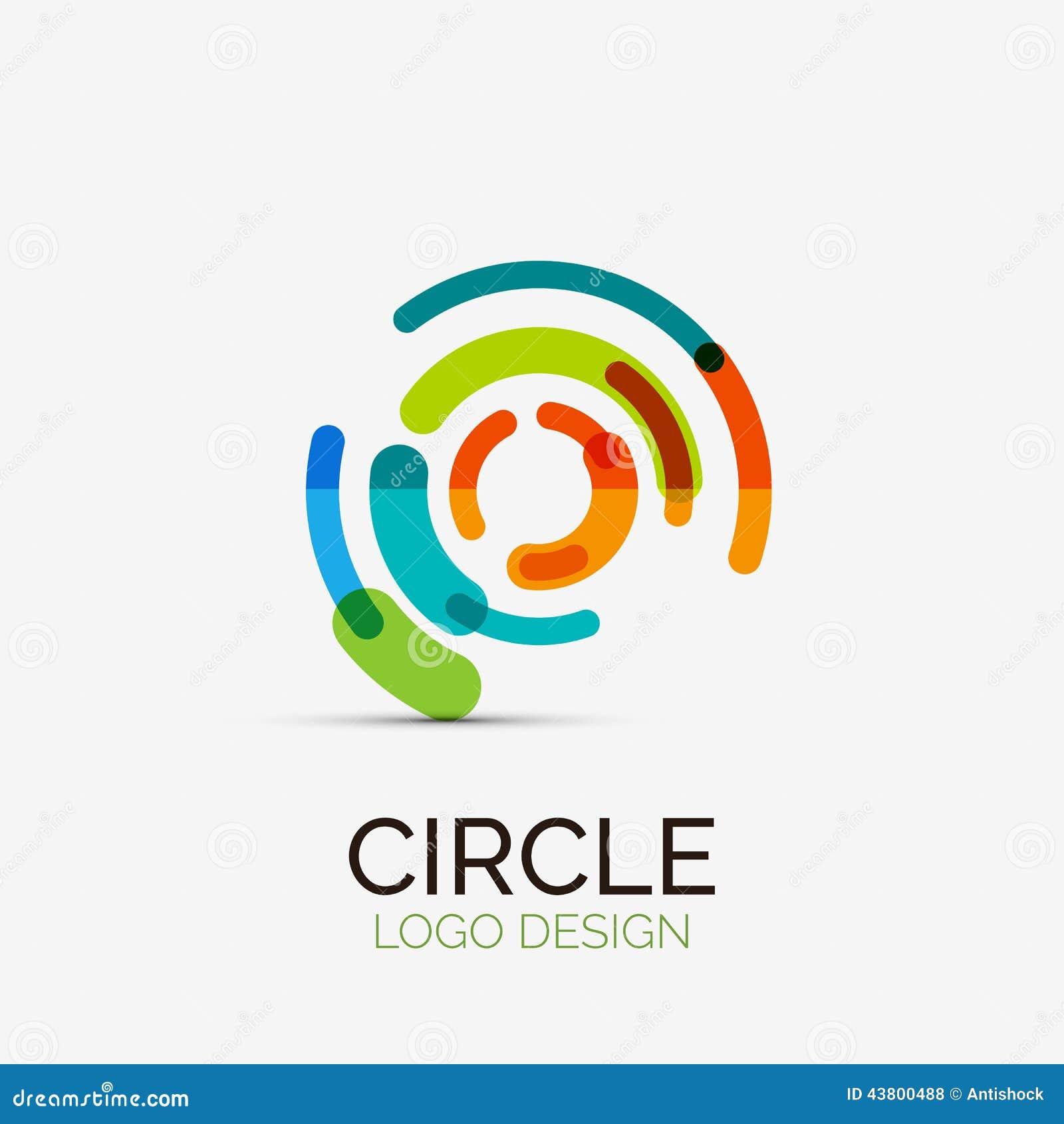 Technika okręgu firmy logo, biznesowy pojęcie