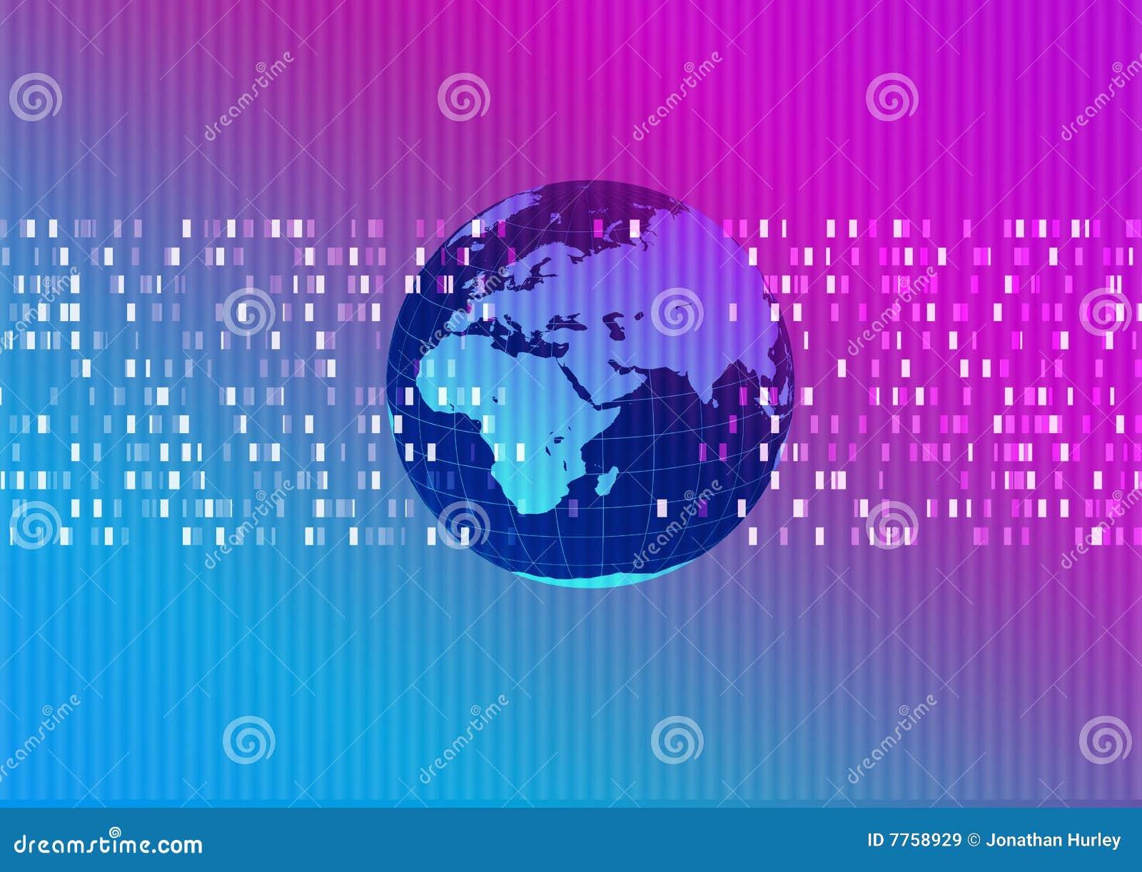 Technische abstracte wereld als achtergrond