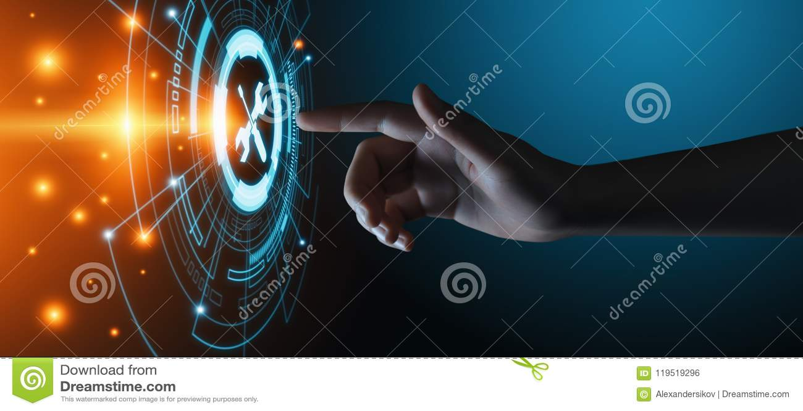 Technische Stützkunden-Dienstleistungsunternehmen-Technologie-Internet-Konzept