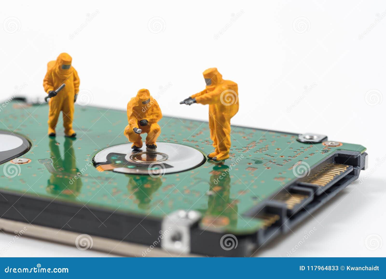Technisches Miniaturteam überwachen Schadstoffe in hartem DIS