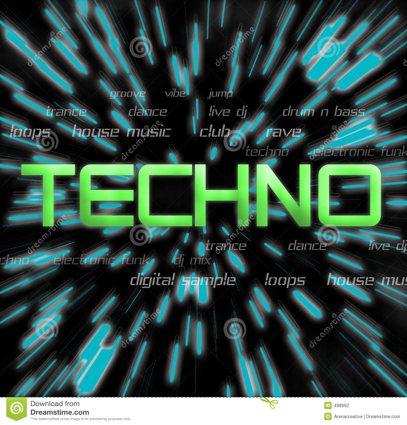Techno Collage Stock Photography - Image: 498992