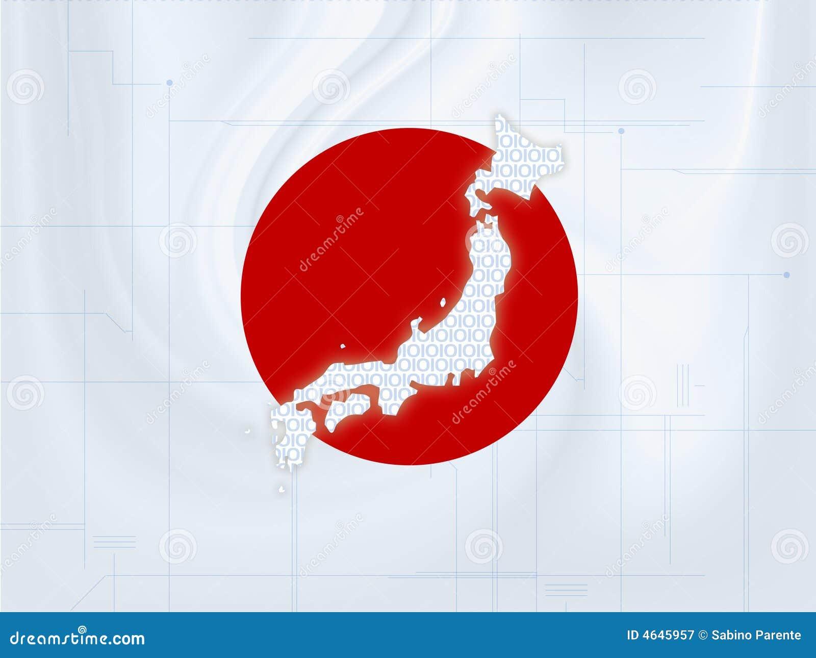 Techno do mapa de Japão