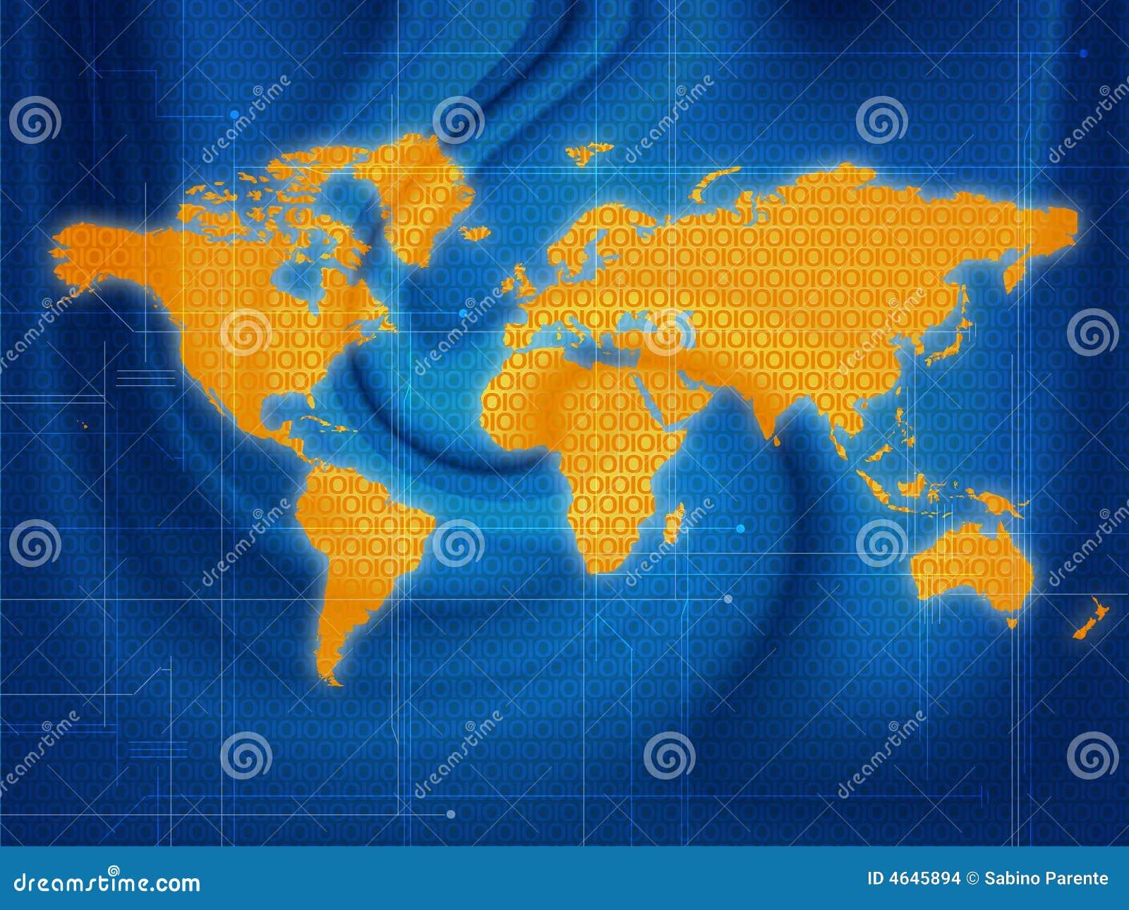 Techno do mapa de mundo