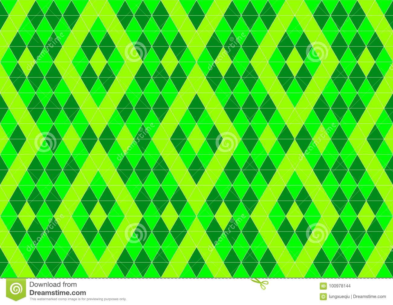 techno geometric oriental ornamental in neon green and soft yellow