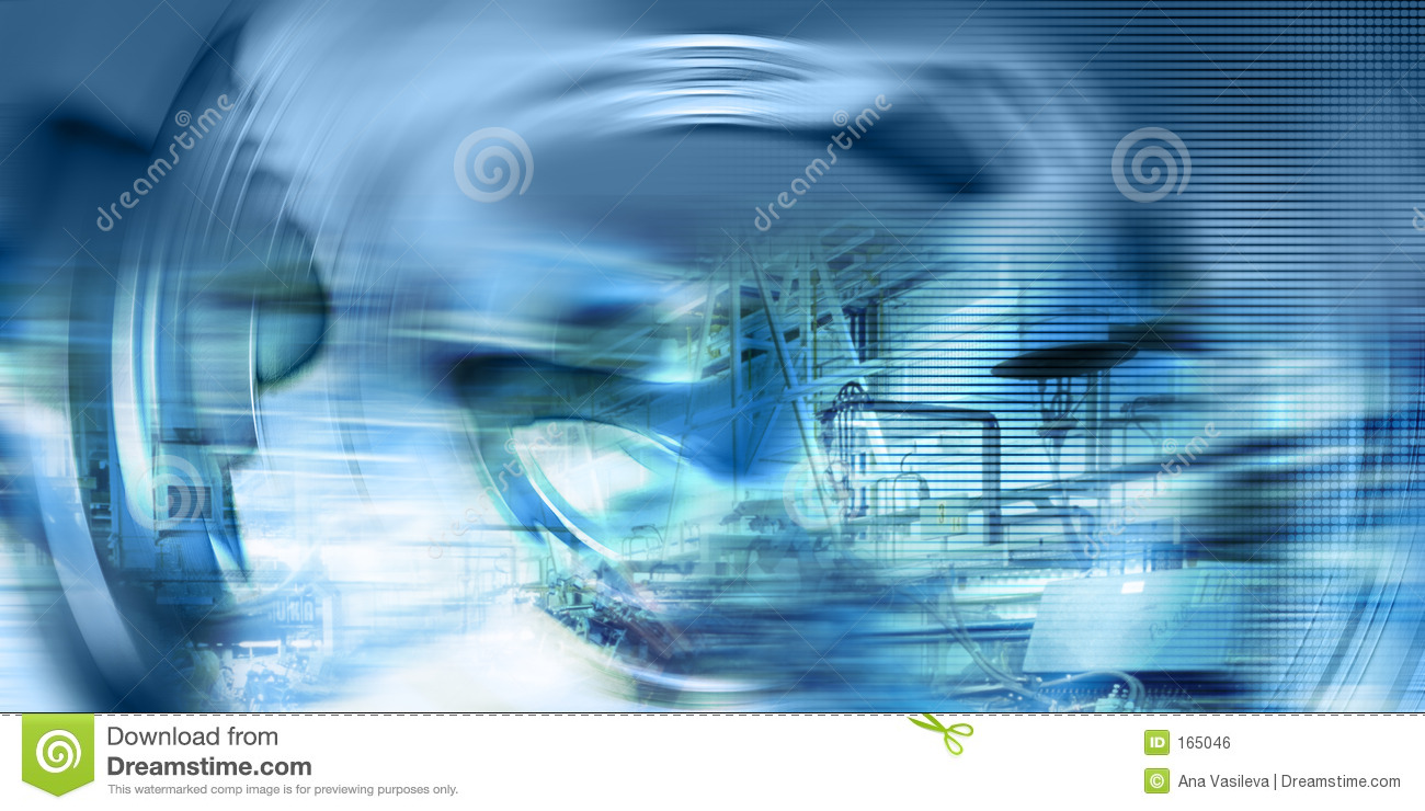 Techno-Industrial Background, Electric-Blue Colours