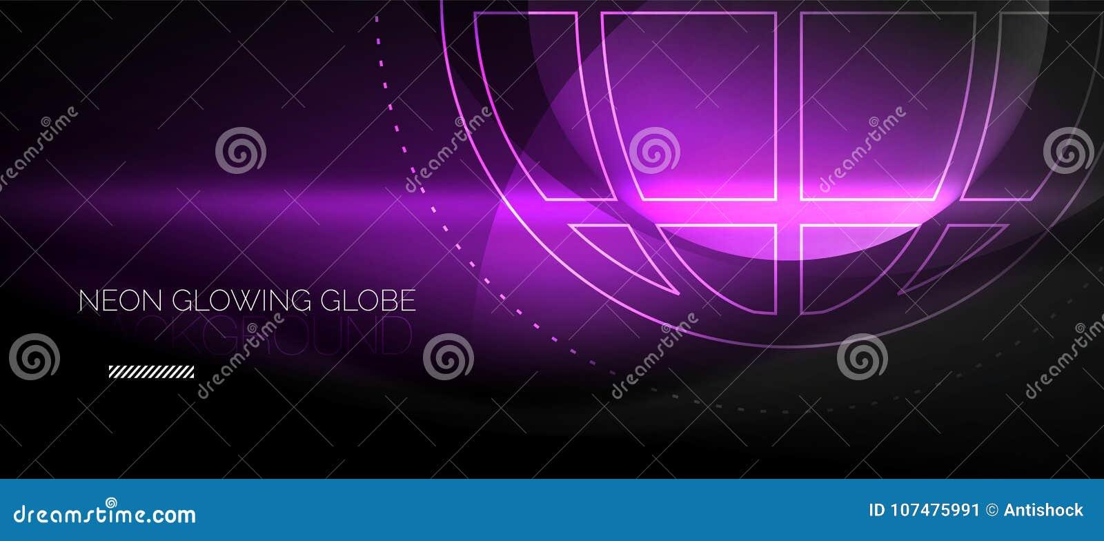 Techno jordklotbegrepp, neonglödplanet