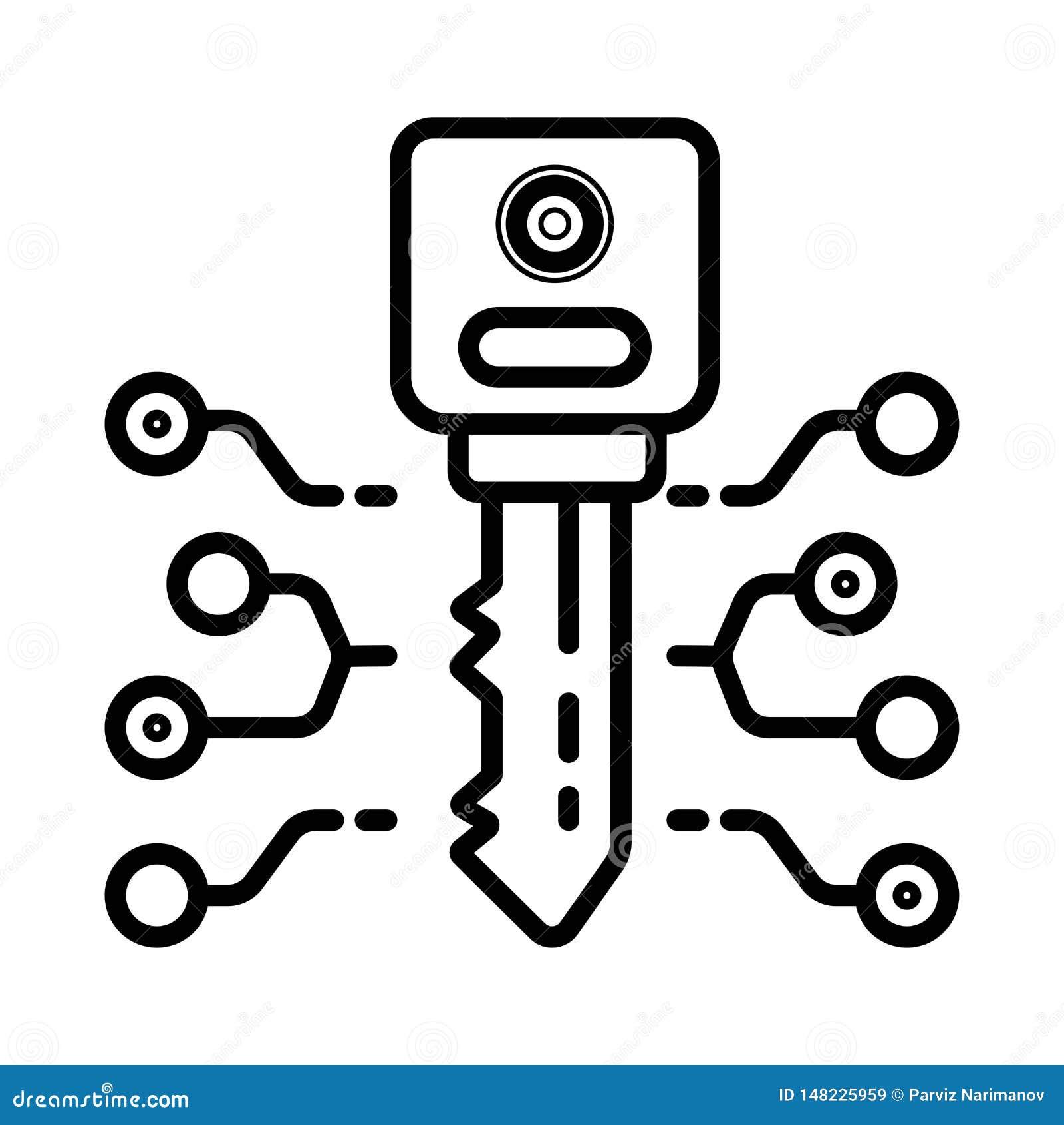 Techno key icon