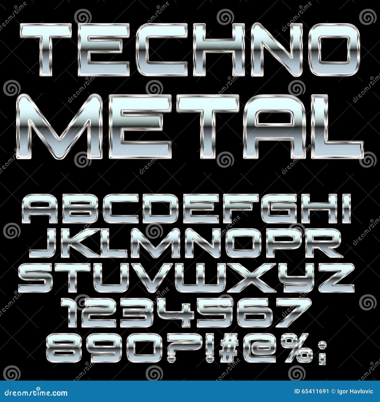 Progressive Logo Design For You Choose The Text Style To: Chrome Alphabet Vector Bold Font. Cartoon Vector