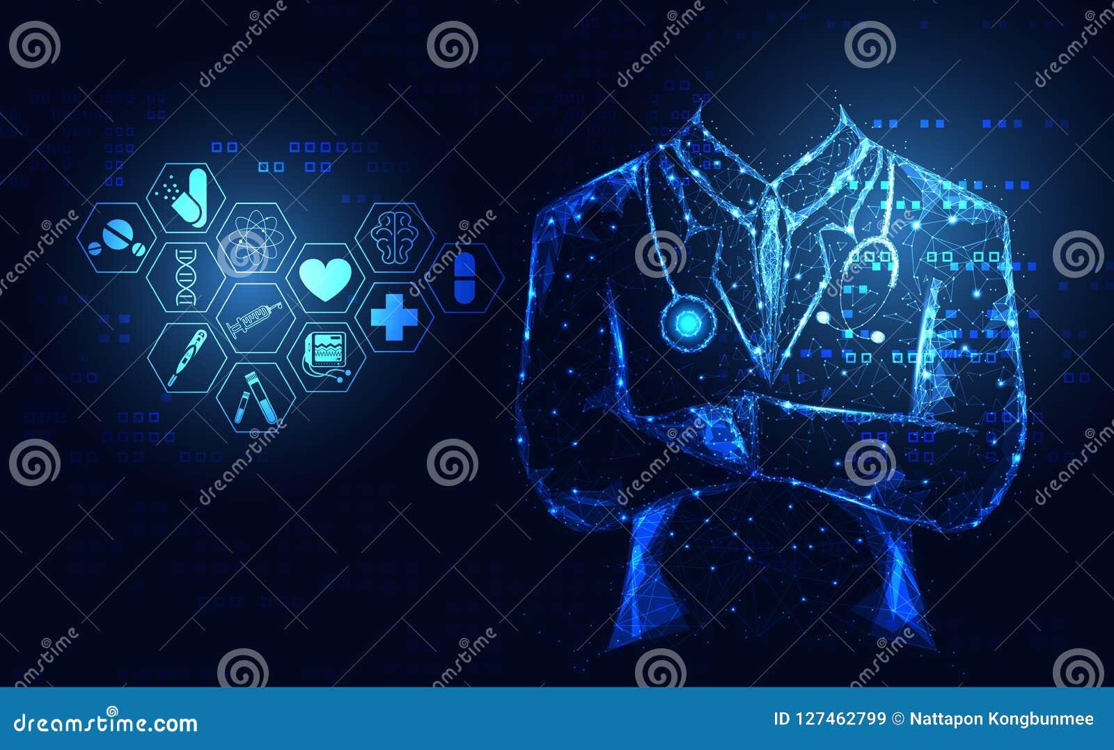 Technolo numérique de santé des sciences médicales d icône abstraite de soins de santé