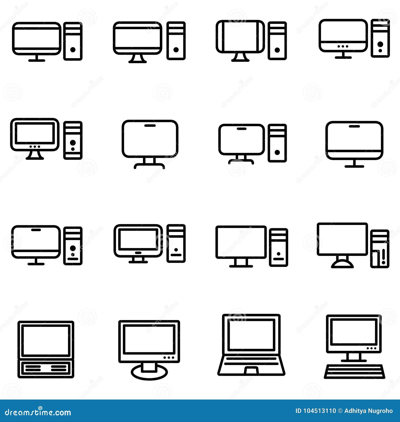 Technologia i komputer ikona