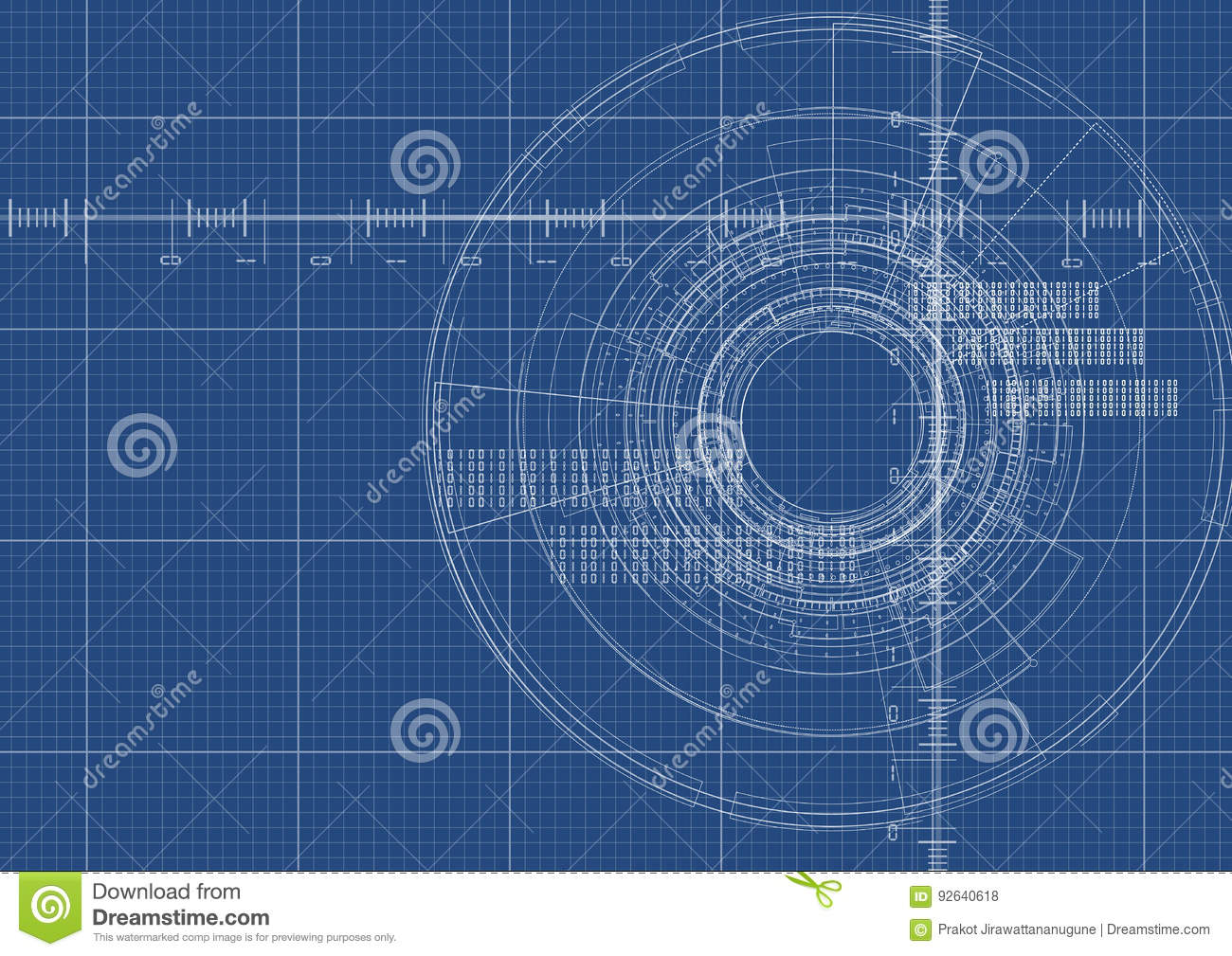 Technological blueprint digital interface background vector stock download technological blueprint digital interface background vector stock vector illustration of digital security malvernweather Images