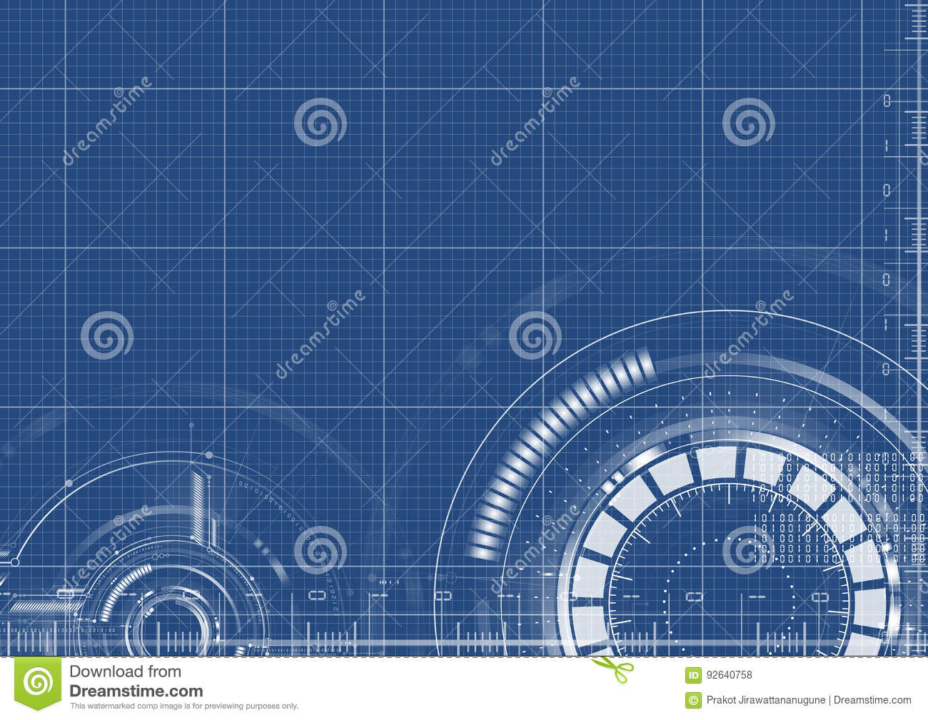 Technological blueprint technical interface background vector technological blueprint technical interface background vector malvernweather Images
