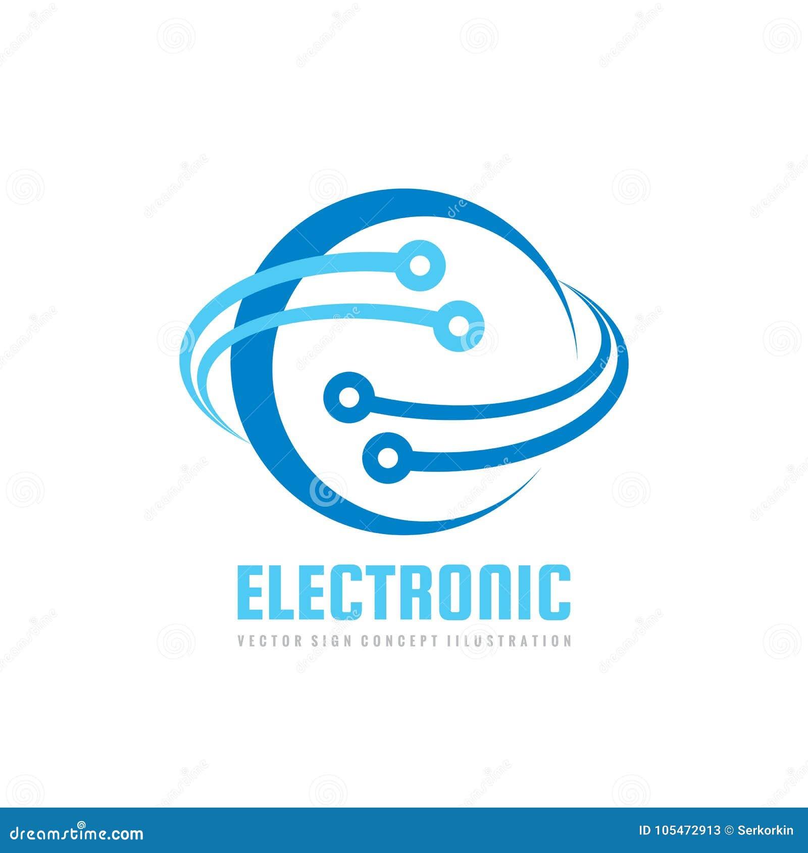 4f2f8785100df Technologie électronique - dirigez le calibre de logo pour l identité d  entreprise Réseau global abstrait