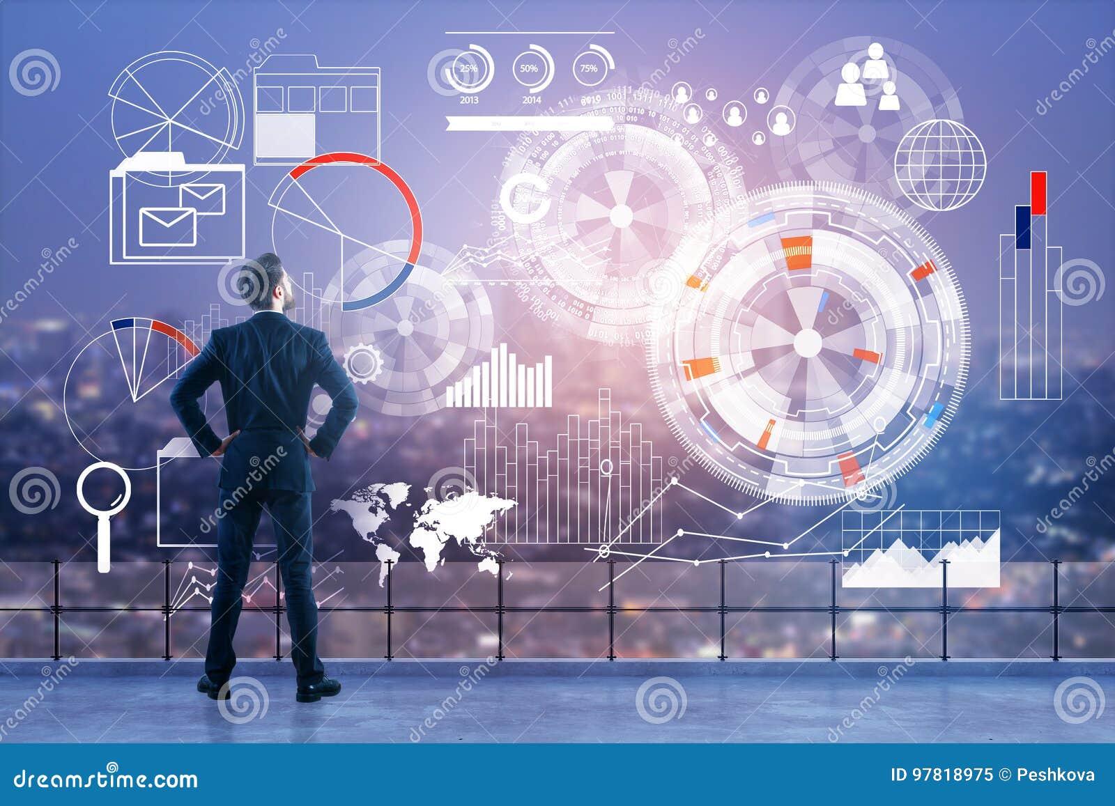 Technologie, Analytik und Finanzkonzept