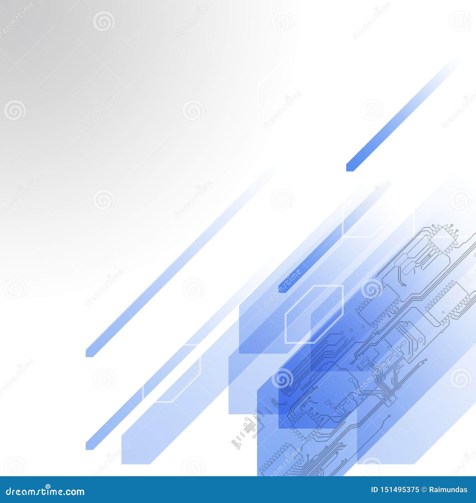 Technologie de résumé futuriste Carte de pointe Informatique élevée d illustration avec le fond bleu-foncé de couleur