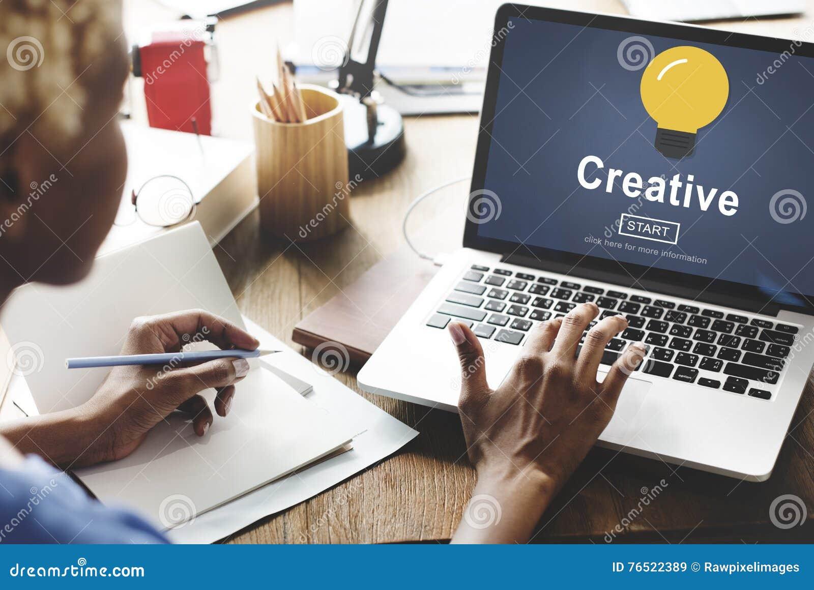 Technologie de solution d innovation d inspiration d idées de créativité concentrée