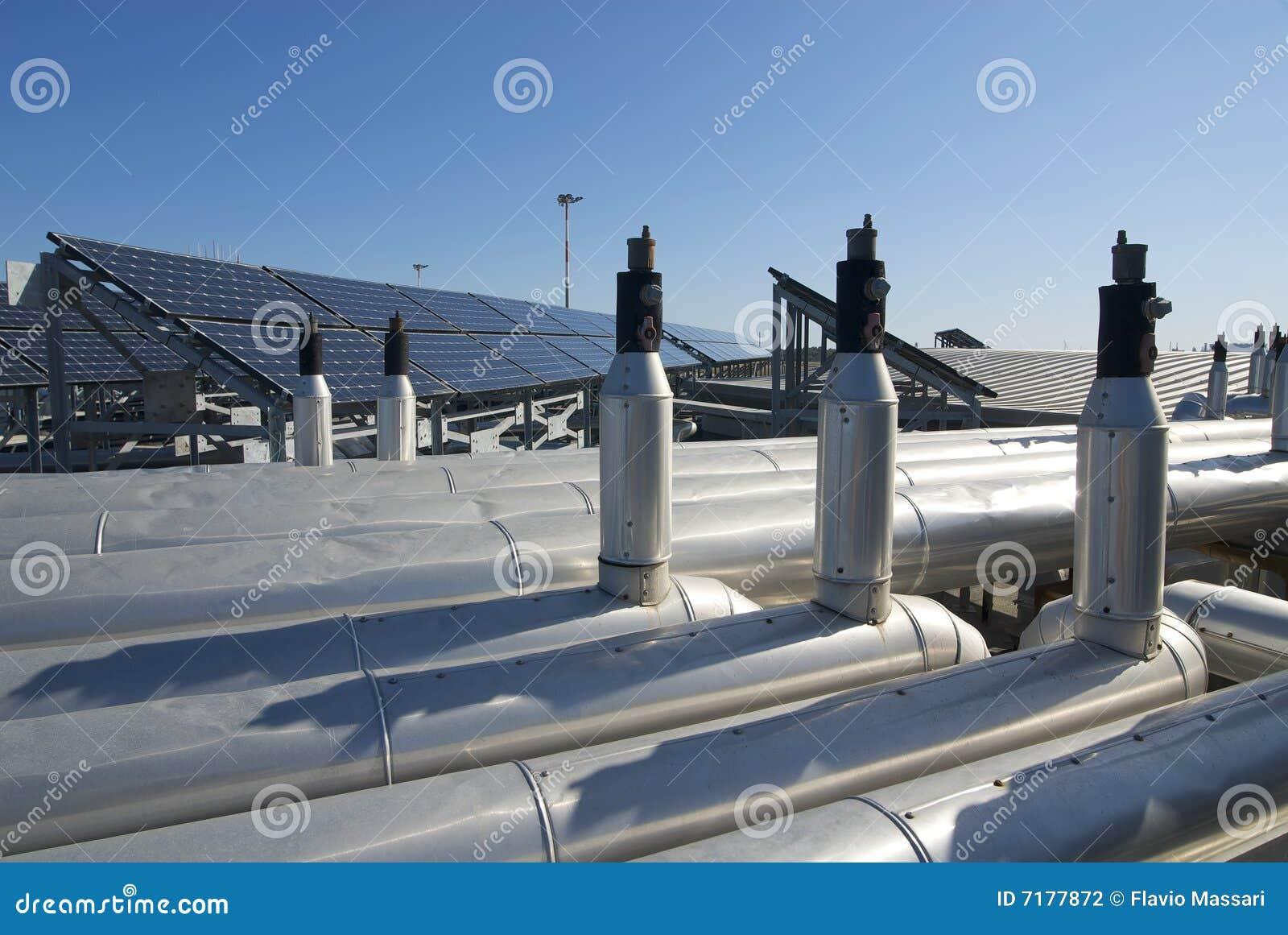 Technologie solaire clymating de toit de cellules d air