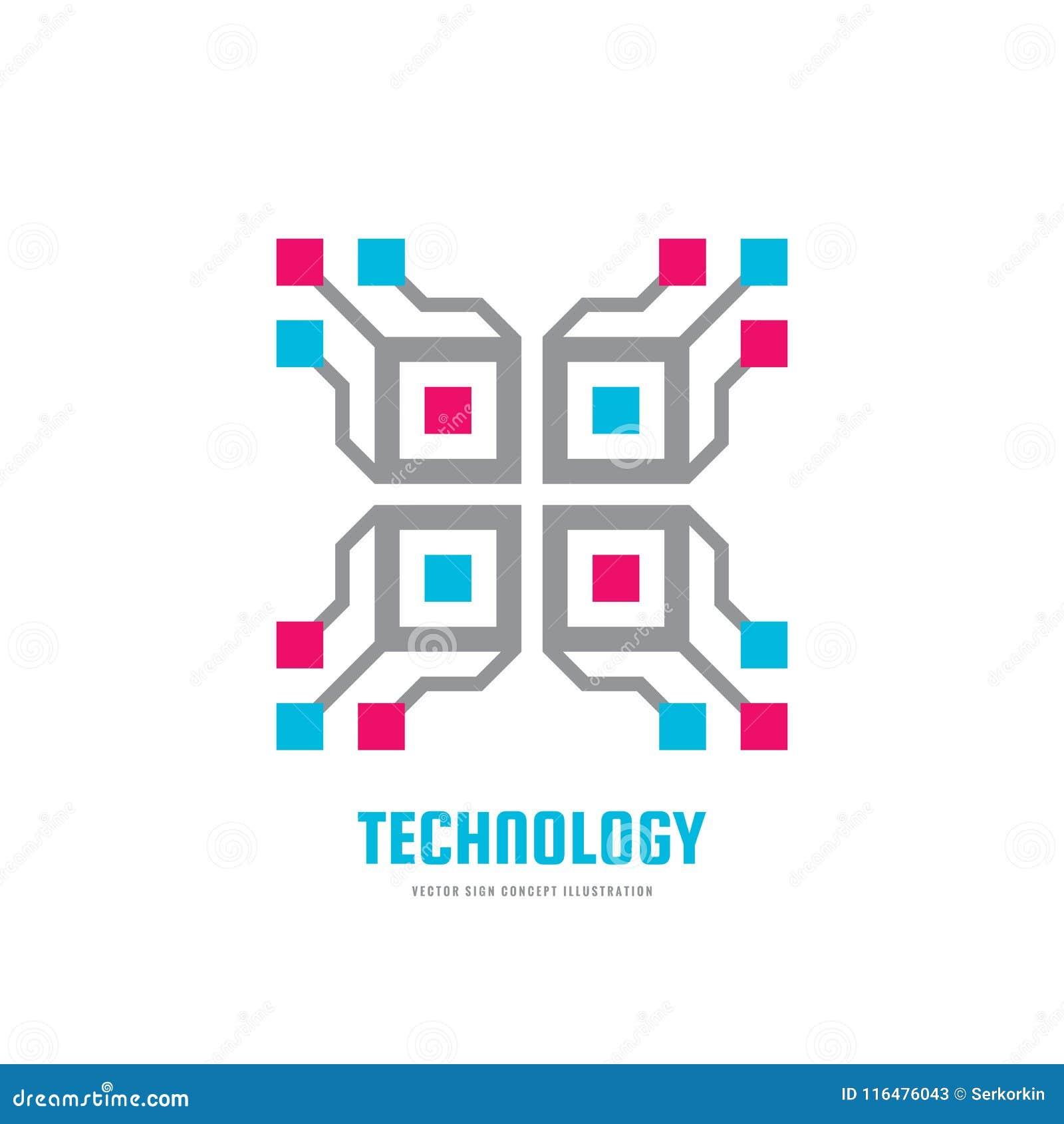 Technologie - illustration de vecteur de calibre de logo d affaires de concept Signe créatif de futur blockchain Icône de cryptoc