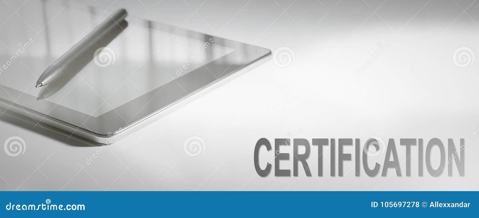 Technologie numérique de concept d affaires de CERTIFICATION
