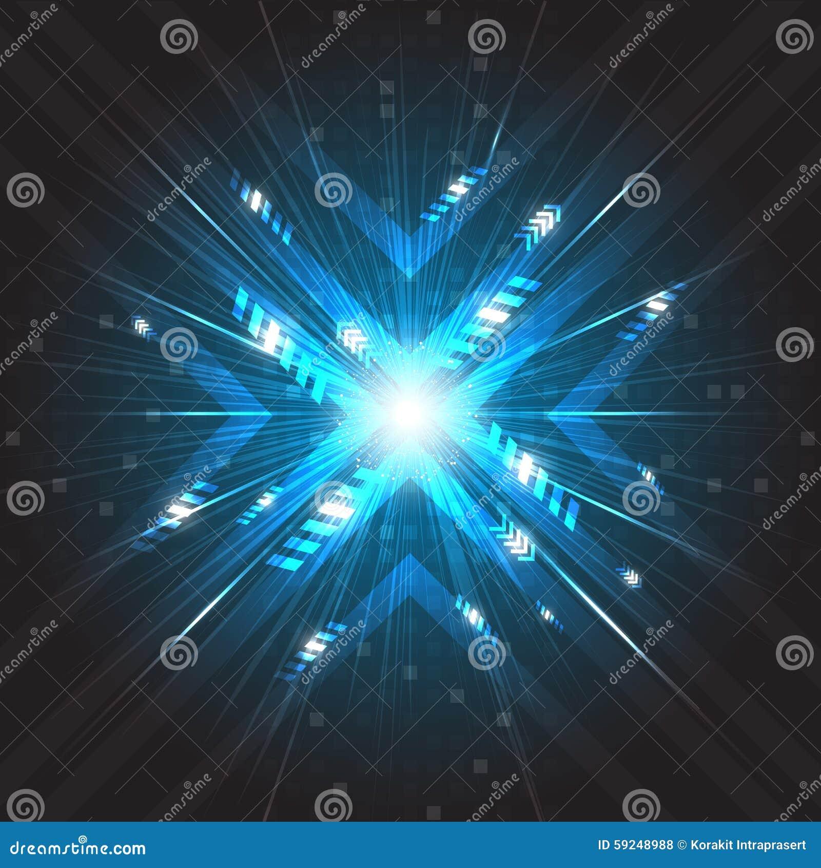 Technologie numérique de vitesse de futur vecteur abstrait