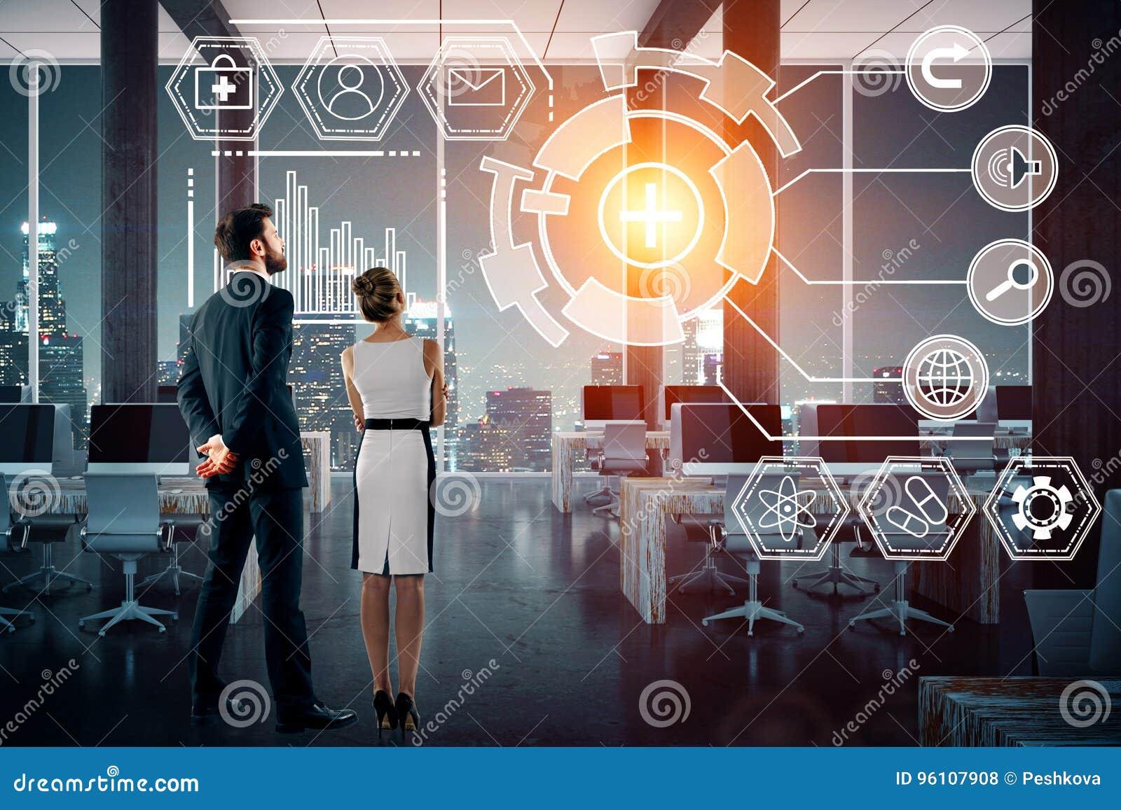Technologie, toekomst, innovatie en netwerkconcept