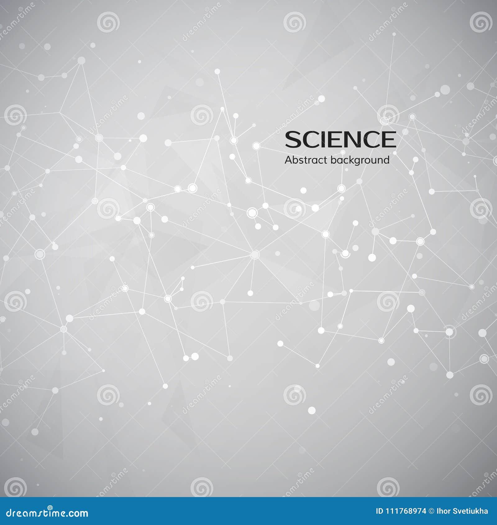 Technologii i nauki tło Abstrakcjonistyczna sieć i guzki Plexus atomu struktura również zwrócić corel ilustracji wektora