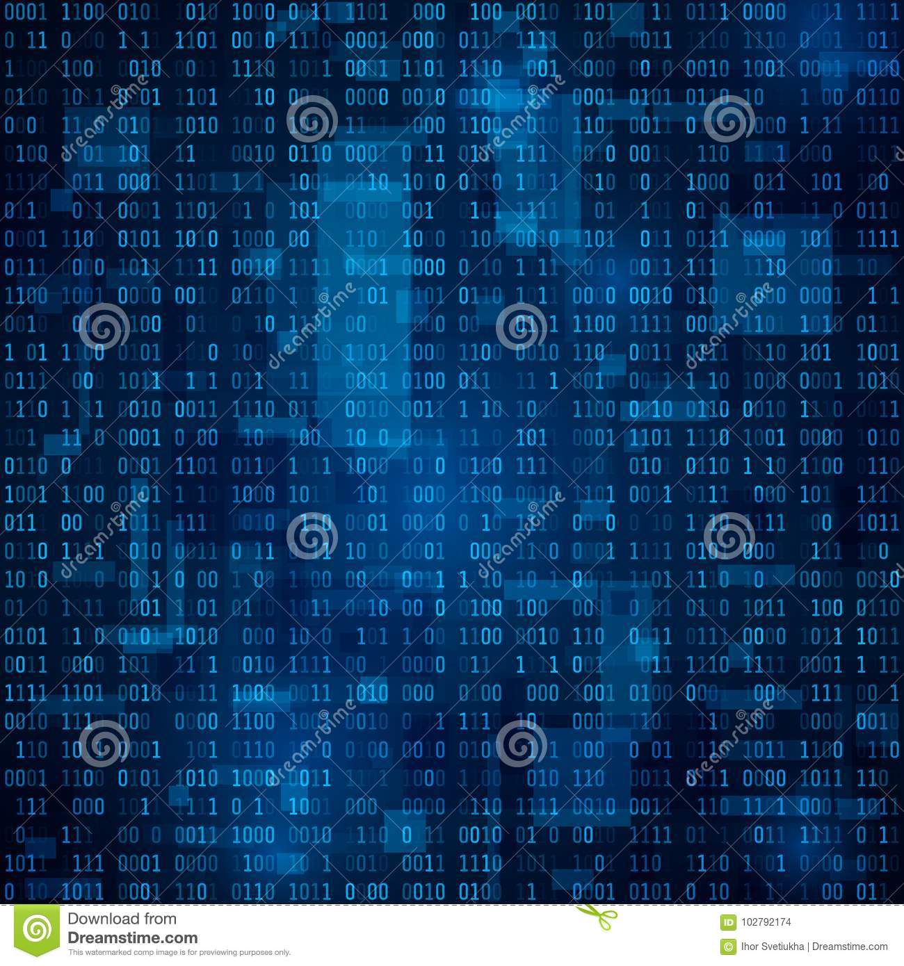 Technology Abstract Background  Binary Code  Encryption And