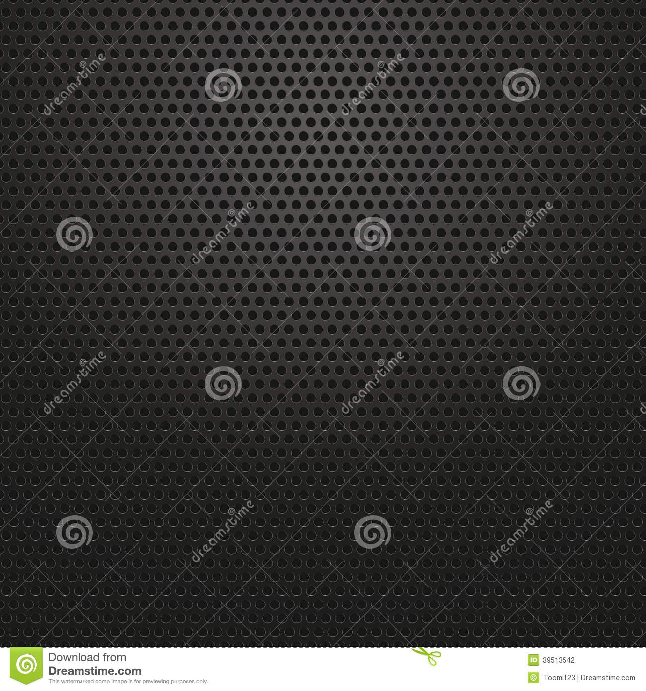 Technology background with circle perforated carbon
