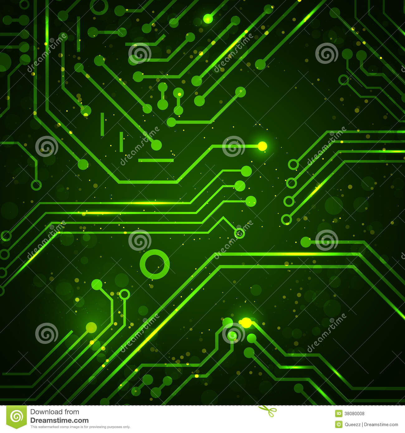 Circuito Hd : Technology background with circuit board elements royalty