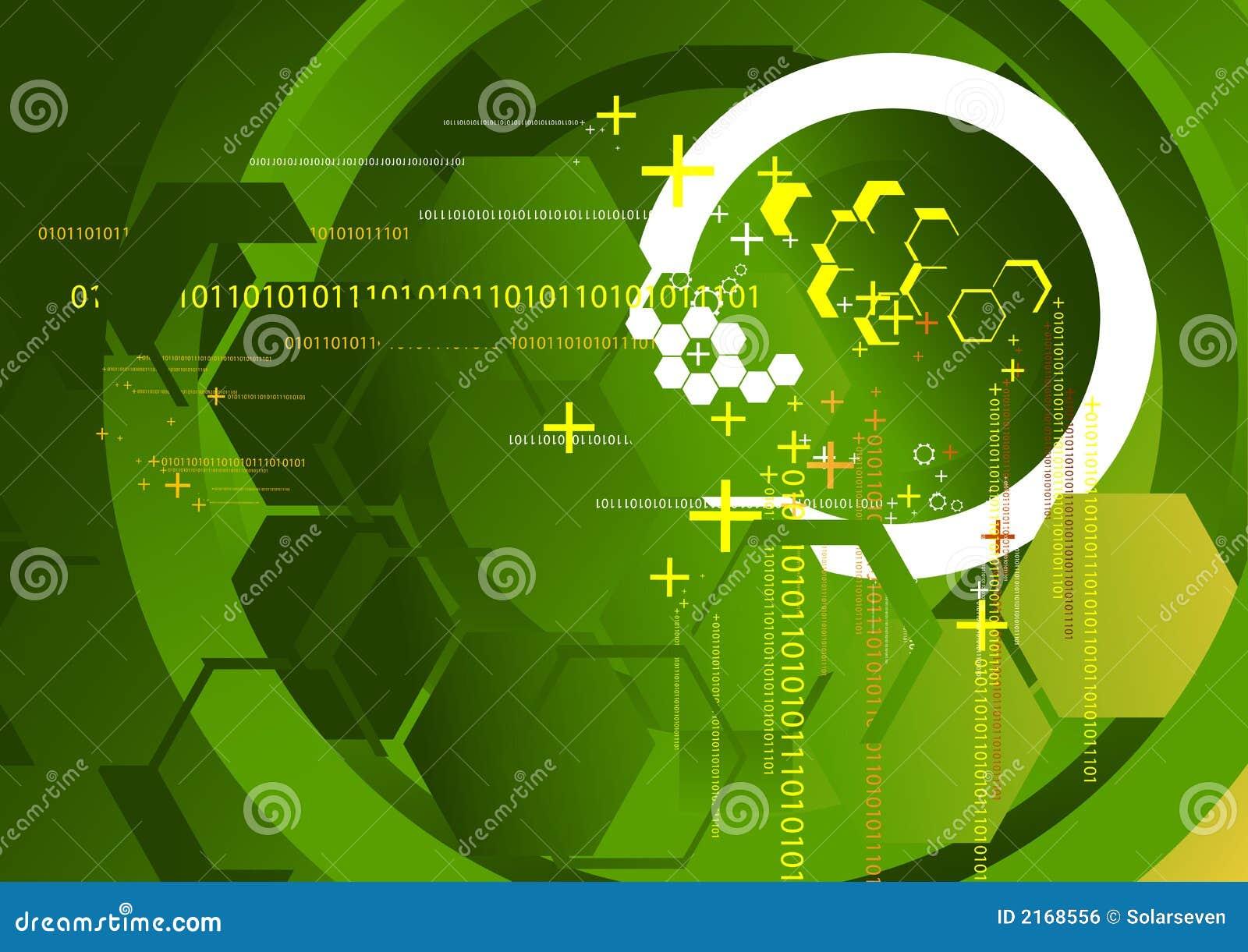 technology background green stock illustration