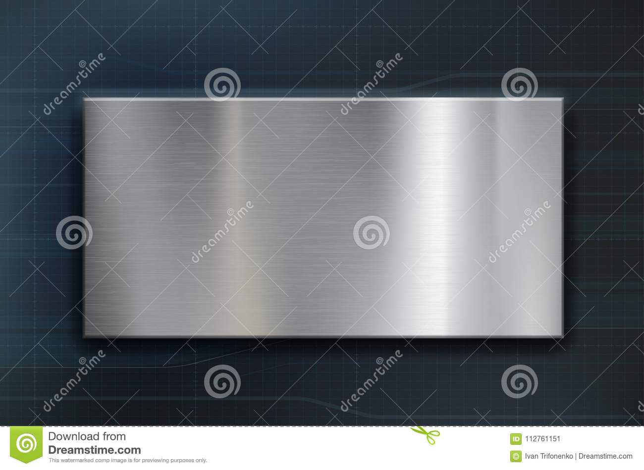 Technology background with a metal plate