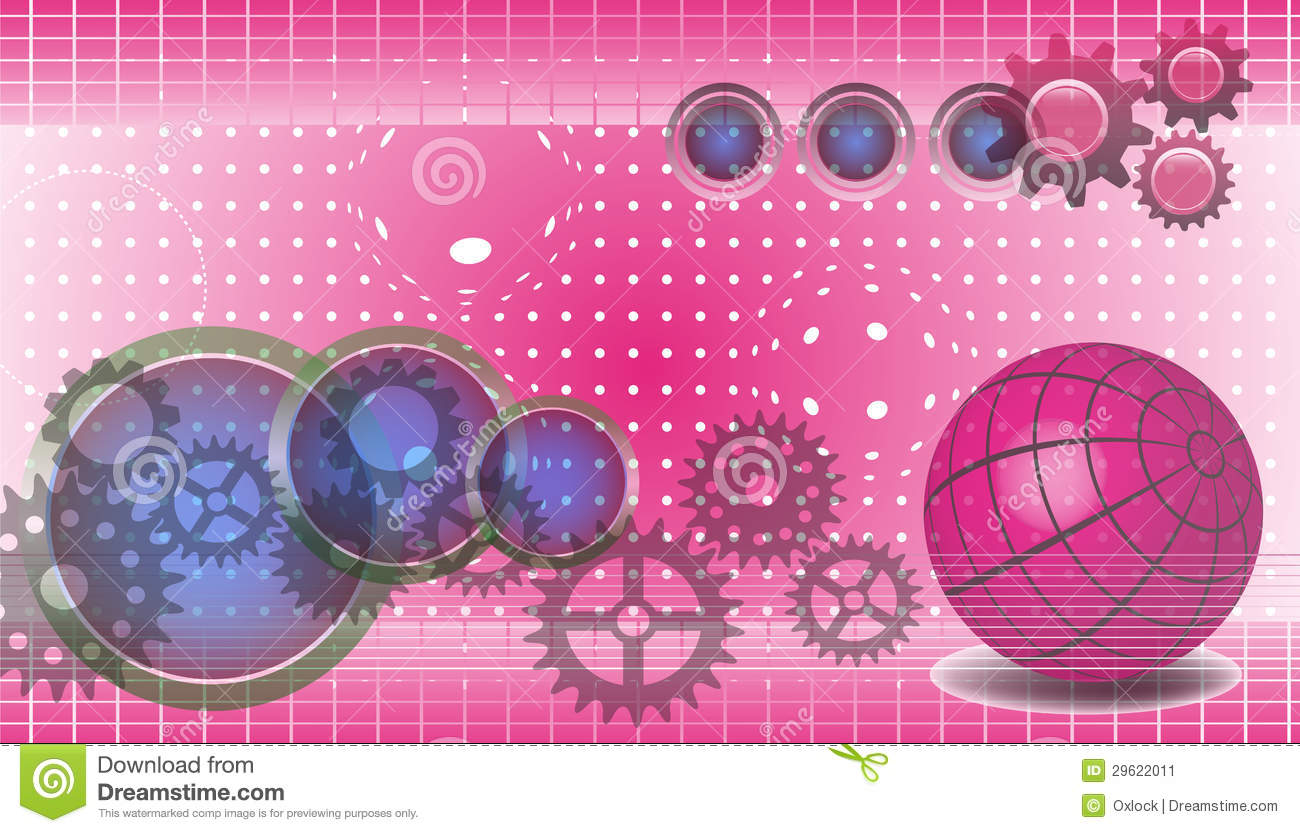 Technology Background In Pink Stock Image - Image: 29622011