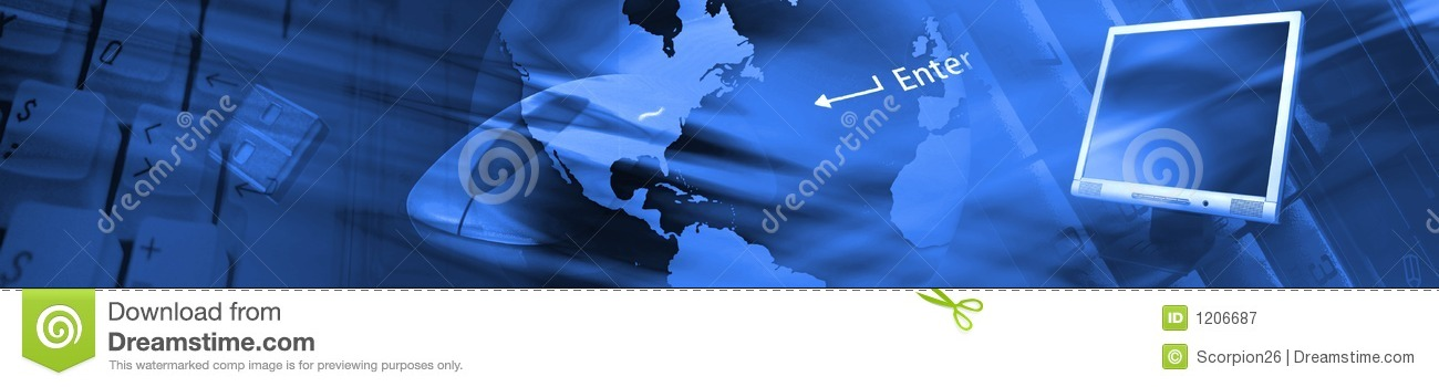 Technology Management Image: Technology Banner. Royalty Free Stock Photography