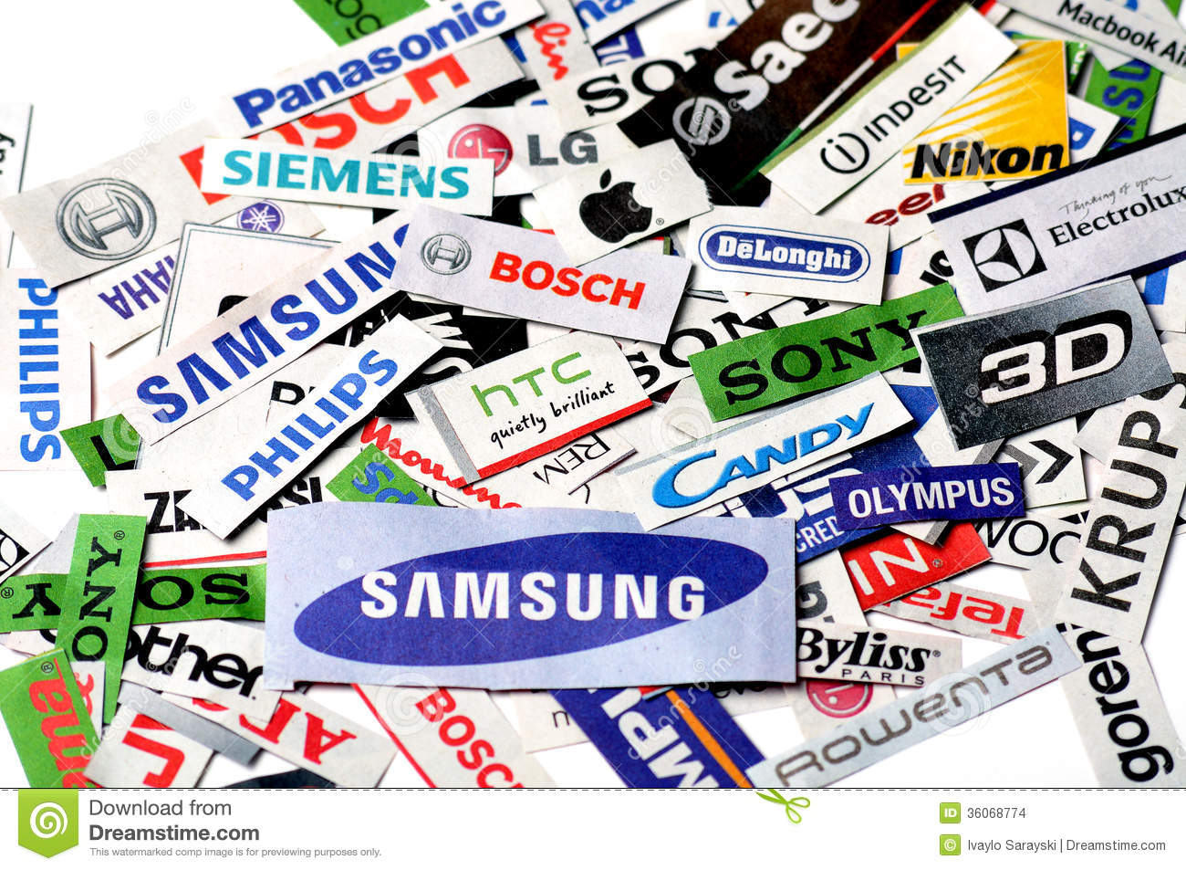 Logos Brands And Logotypes: Technology Brands Editorial Stock Image. Image Of Mixed